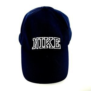 Nike Running Hat Wicking Mesh Navy Blue White